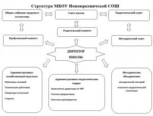 Структура МБОУ Новоюрковичской СОШ